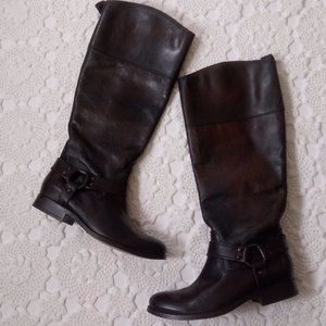 Frye 7 Phillip Tall Harness Riding Boots Brown EUC